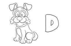 Alfabetfärgläggning söker djur serie` för `, Arkivfoton