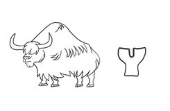 Alfabetfärgläggning söker djur serie` för `, Arkivfoto
