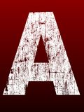 alfabetfettgrunge Arkivfoton