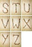alfabetflotta s z Royaltyfri Fotografi