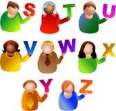 alfabetfolk Arkivbild