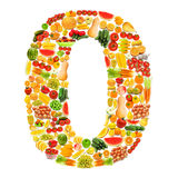 alfabetfrukter gjorde grönsaker Royaltyfria Bilder
