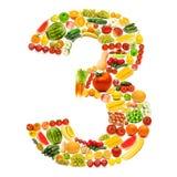 alfabetfrukter gjorde grönsaker Arkivfoton