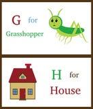 AlfabetG och H Arkivbild
