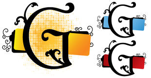 alfabetG-vektor Royaltyfria Bilder