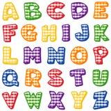 alfabetgingham Arkivfoto