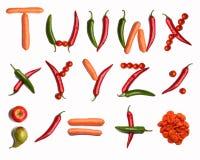 alfabetgrönsak Arkivfoton