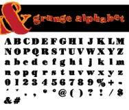 alfabetgrungevektor royaltyfri illustrationer