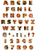 alfabethösten låter vara orange textur Royaltyfria Foton