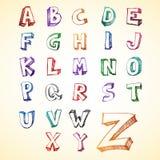 alfabethuvudsketchy royaltyfri illustrationer