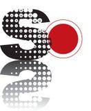 Alfabeti astratti di zen dei puntini Fotografia Stock