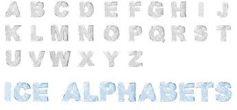 alfabeti del ghiaccio 3D fissati Immagine Stock