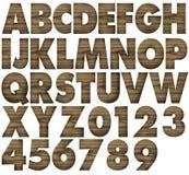Alfabeti di legno del teck Fotografia Stock