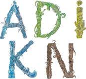Alfabeti - Doodle Fotografie Stock Libere da Diritti