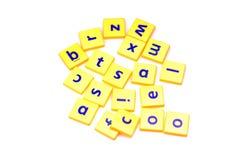 Alfabeti rimescolati Immagini Stock