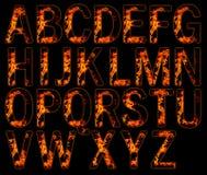 Alfabeti su fuoco illustrazione di stock