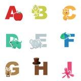 Alfabetillustratie stock illustratie