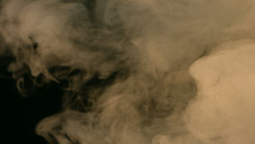 Alfabetisk kanal som böljer rök lager videofilmer