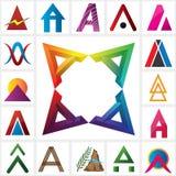 Alfabetisk logomall för bokstav AAAA royaltyfri illustrationer