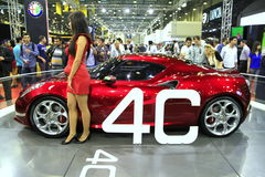 Alfabetisk Romeo 4C Royaltyfri Fotografi
