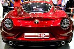Alfabetisk Romeo 4C Arkivbilder