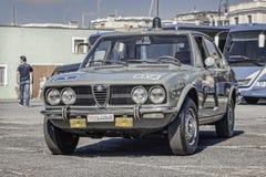Alfabetisk Romeo Alfetta Polizia 1600 Stradale royaltyfri bild