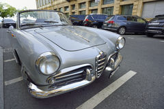 Alfabetisk 1958 Romeo Giulietta Spider Fotografering för Bildbyråer