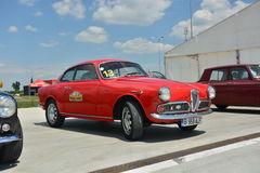 Alfabetisk Romeo Giulietta Sprint Fotografering för Bildbyråer