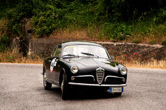 ALFABETISK ROMEO Giulietta Sprint Bertone 1957 royaltyfri fotografi