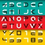 Alfabetiska stilsorter och nummer Arkivfoto