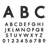 Alfabetiska stilsorter och nummer Arkivbild
