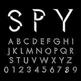 Alfabetiska stilsorter och nummer Arkivfoton