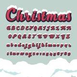 Alfabetiska stilsorter och nummer för jul Arkivbilder