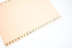 Alfabetiskt index som sorterar kundadresser royaltyfri bild