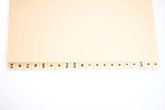 Alfabetiskt index som sorterar kundadresser arkivfoto