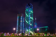 Alfabetiskt torn i Batumi Arkivfoton