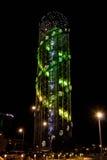 Alfabetiskt torn i Batumi Royaltyfria Foton