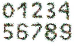 alfabetjulnummer Royaltyfri Bild