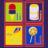 Alfabetkaarten Royalty-vrije Stock Foto's