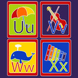 Alfabetkaarten Royalty-vrije Stock Afbeelding