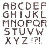 alfabetkaffe royaltyfri fotografi