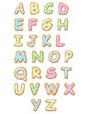 alfabetkaka stock illustrationer