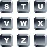 alfabetknappar vektor illustrationer