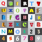 alfabetkomiker Royaltyfri Bild