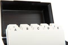 alfabetkort Arkivfoto