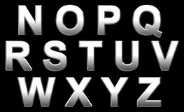 alfabetkrom Arkivbilder