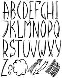 alfabetlatin royaltyfri illustrationer