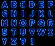 alfabetneon Royaltyfri Fotografi