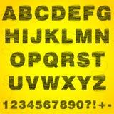 alfabetnummertråd Arkivfoton