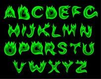 Alfabeto ácido da flama ilustração do vetor